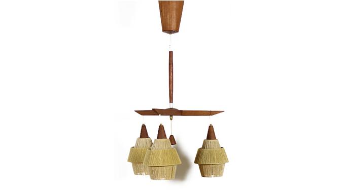 Lámpara teca y cuerda