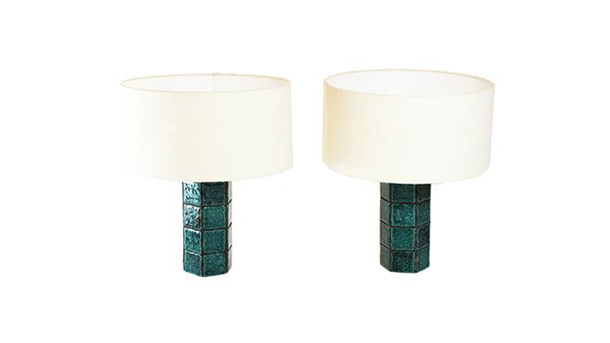 Pareja de lámparas de cerámica