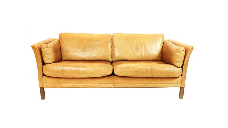 Sofa escandinavo en cuero