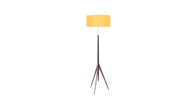 Lámpara trípode en negro