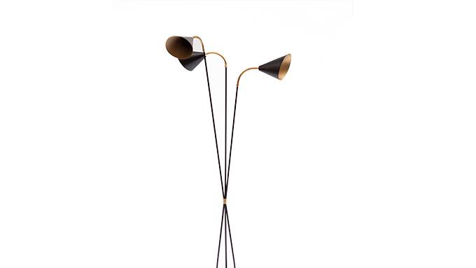 Lámpara de pie 3 tulipas