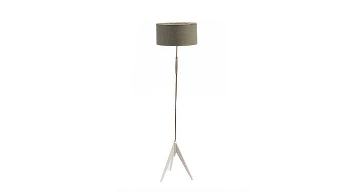 Lámpara de pie madera y latón