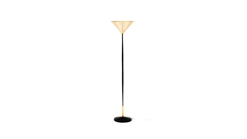 Lámpara de pie metal lacado y latón