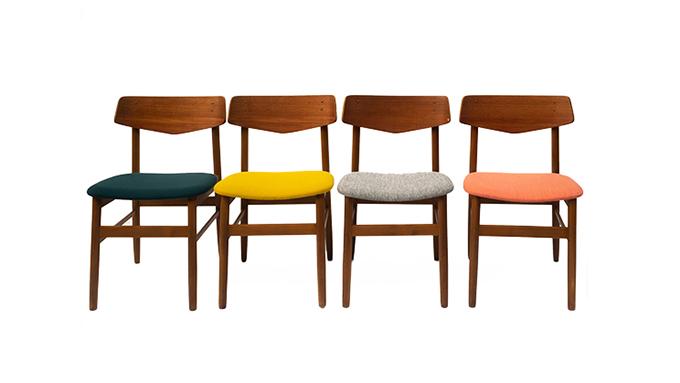 Set de 4 sillas en teca