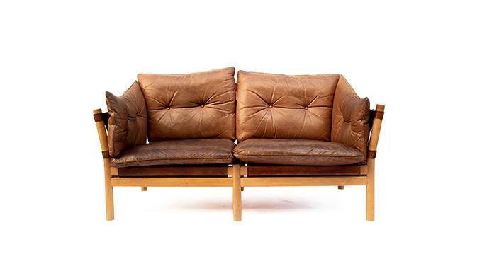 Sofá de piel by Arne Norell