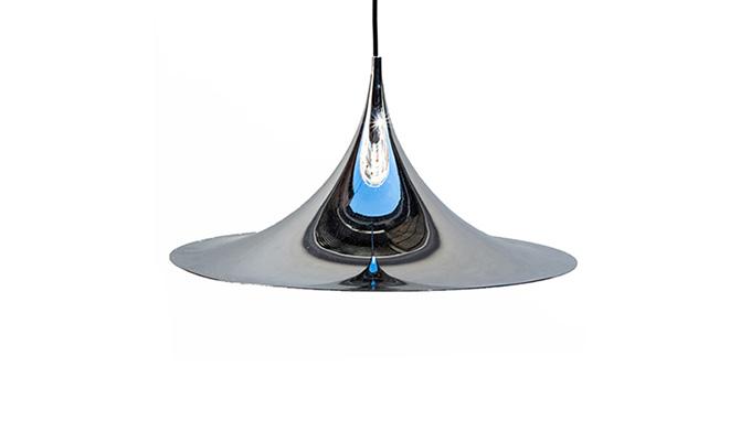Lámpara Semi cromada