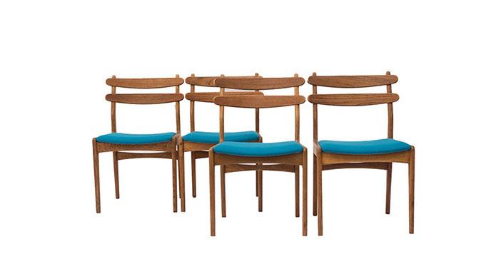 Set de sillas de comedor en roble