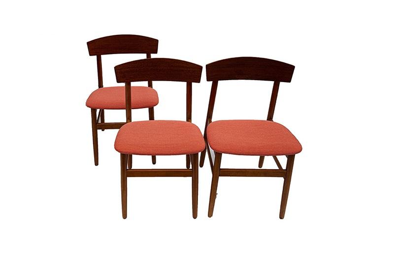 Set de 3 sillas en teca