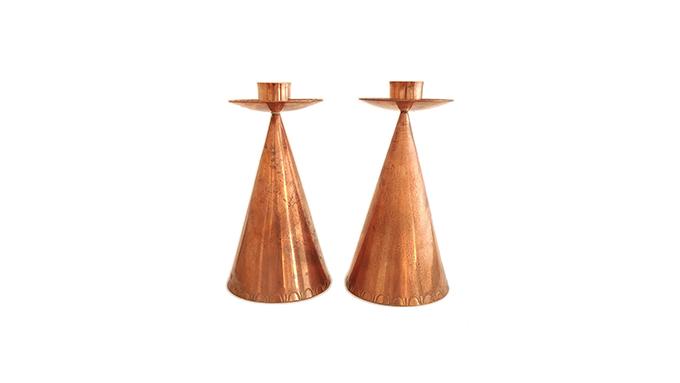 Candelabros en cobre
