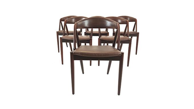 Set de 6 sillas palosanto Kai Kristiansen