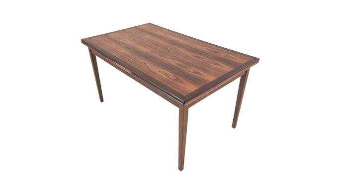 Mesa de comedor en palosanto. Extensible